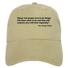Patton Ingenuity Quote Baseball Cap