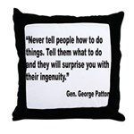 Patton Ingenuity Quote Throw Pillow