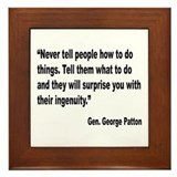 Patton Ingenuity Quote Framed Tile