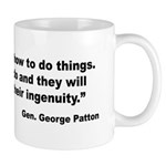Patton Ingenuity Quote Mug
