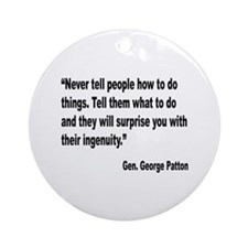 Patton Ingenuity Quote Ornament (Round)