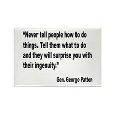 Patton Ingenuity Quote Rectangle Magnet