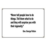 Patton Ingenuity Quote Banner