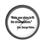 Patton Planning Quote Wall Clock