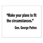 Patton Planning Quote Small Poster