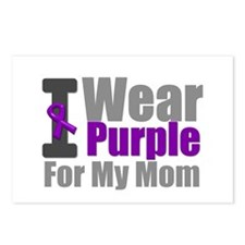 PurpleRibbon Mom Postcards (Package of 8)