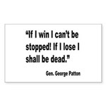 Patton Win Lose Quote Rectangle Sticker 10 pk)