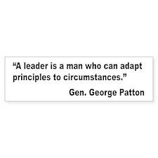 Patton Leader Quote Bumper Bumper Sticker