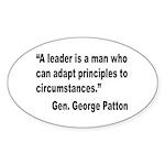 Patton Leader Quote Oval Sticker (10 pk)