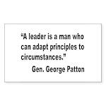 Patton Leader Quote Rectangle Sticker