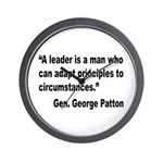 Patton Leader Quote Wall Clock