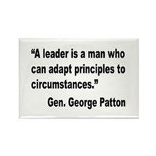 Patton Leader Quote Rectangle Magnet