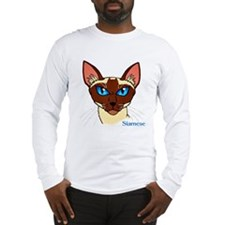 Painted Siamese Cat Face Long Sleeve T-Shirt