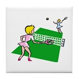 Tennis Match Tile Coaster