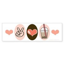Peace Love Boba Bubble Tea Bumper Bumper Sticker