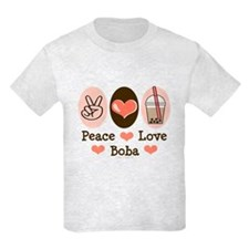 Peace Love Boba Bubble Tea T-Shirt