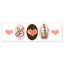 Peace Love Boba Bubble Tea Bumper Sticker (10 pk)