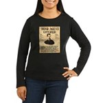 Black Bart Women's Long Sleeve Dark T-Shirt