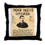 Black Bart Throw Pillow