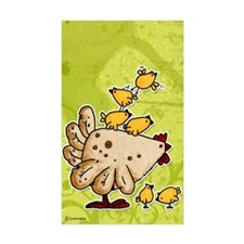 chickens Rectangle Sticker 10 pk)