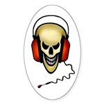 hard rock Oval Sticker