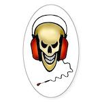hard rock Oval Sticker (10 pk)