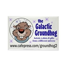 Galactic Groundhog Rectangle Magnet