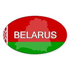 Belarus Flag + Oval Decal