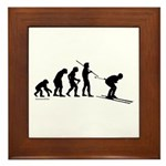 Ski Evolution Framed Tile