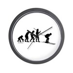 Ski Evolution Wall Clock