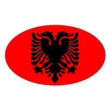 Albanian Oval Sticker (10 pk)