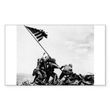 Iwo Jima Rectangle Sticker 10 pk)