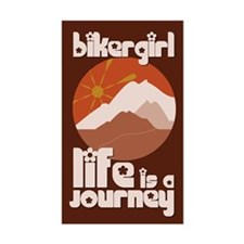 BikerGirl Life Is A Journey Rectangle Decal