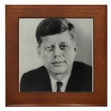 John F. Kennedy Framed Tile