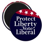Protect Liberty, Vote Liberal (magnet)