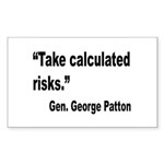 Patton Take Risks Quote Rectangle Sticker 10 pk)
