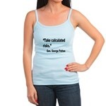 Patton Take Risks Quote Jr. Spaghetti Tank