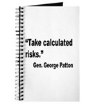 Patton Take Risks Quote Journal