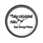 Patton Take Risks Quote Wall Clock