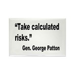 Patton Take Risks Quote Rectangle Magnet (10 pack)