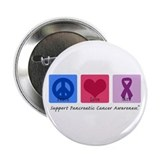 "Peace Love Cure PC 2.25"" Button (100 pack)"