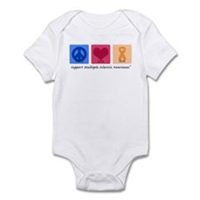Peace Love Cure MS Infant Bodysuit