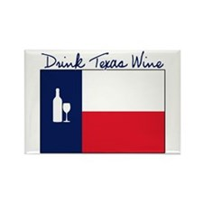 Drink Texas Wine Rectangle Magnet
