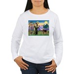 Saint Francis & Airedale Women's Long Sleeve T-Shi