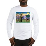 Saint Francis & Airedale Long Sleeve T-Shirt