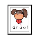 drool Framed Panel Print