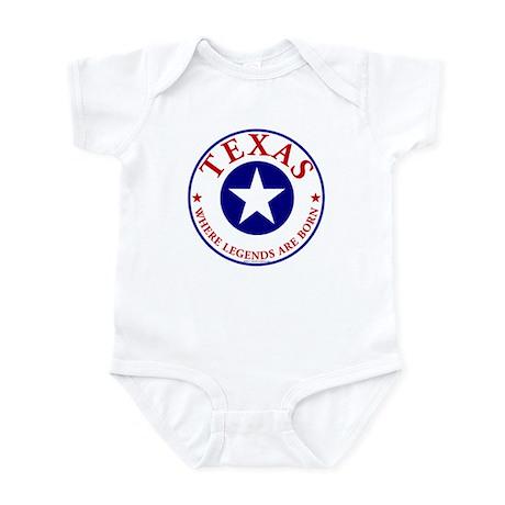 Texas where legends are born Baby Bodysuit