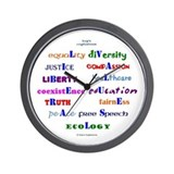 Liberal Values Wall Clock