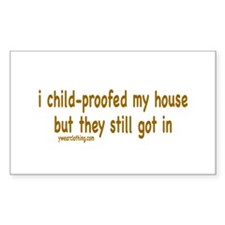 Child-proof Rectangle Decal