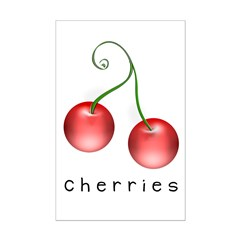 cherries Mini Poster Print